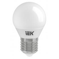 Лампа светодиодная LED  5 Вт Е27 IEK белый матовый шар(LLE-G45-5-230-40-Е27)