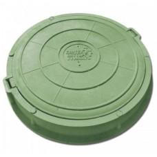 Люк садовый канализационный (1,5т) зеленый КРУГЛЫЙ(61658)
